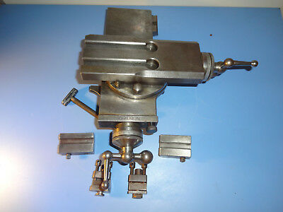 Swiss Schaublin 102 Precision Lathe Toolmaker's X-Y Compound Metric With Extras