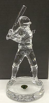 Waterford Crystal Baseball Player - New in Box