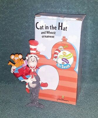"1997 ""Cat in the Hat and Whozit"" Ornament +box by Midwest of Cannon Falls(Seuss)"