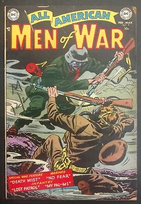 All-American Men Of War #9 1954 Solid Vg+ 4  Stories Gene,colan,andru,novick