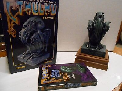 Cthulhu Statue (Limited Edition, #764) And Book By Robert E. Howard (Pb, 1989)
