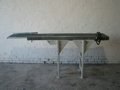 Motorised Variable Speed Belt Conveyor - 2.4m long - Okura