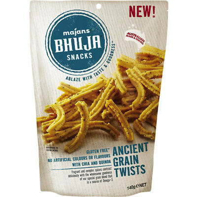 Majans Bhuja Ancient Grains Twists - 140g