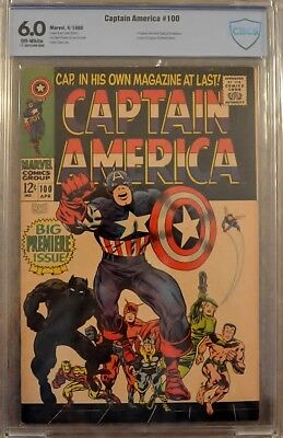 Captain America #100  Cbcs 6.0 Ow/w *key* Stan Lee & Jack Kirby 1St Solo Issue!