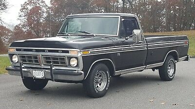 """1976 Ford F-150 XLT Truly Rare Ranger XLT """"M"""" Code Factory 390 4 Barrel Dual Tanks Tool Stowage Box"""