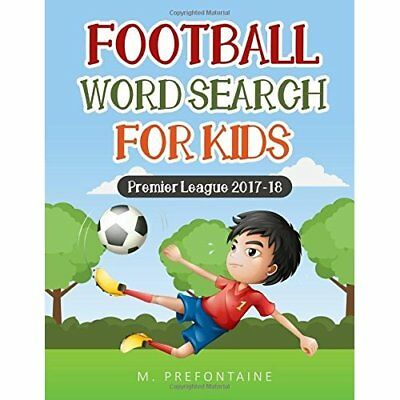 Football Wordsearch for Kids M Prefontaine Paperback Childrens Puzzles Sports