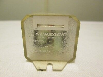 SCHRACK RELAY RM 605 615 > 115V - 10A / 380V USED in Good Condition