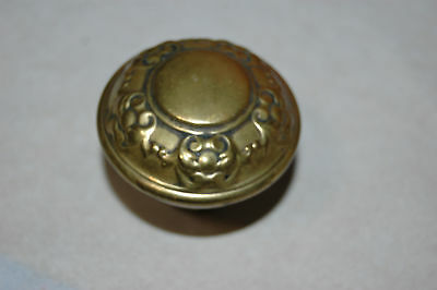 Antique Door Knob Art Nouveau Estate Brass Victorian EASTLAKE