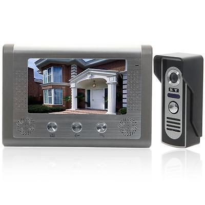 """7"""" TFT LCD Monitor Wired Color Video Door Phone Doorbell Home Intercom System US"""