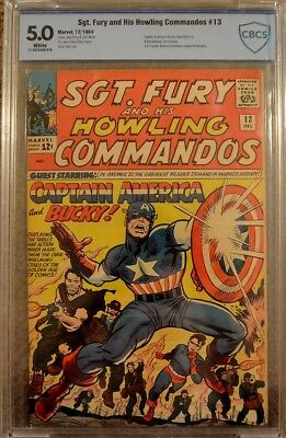 Sgt. Fury & His Howling Commandos #13 Cbcs Graded 5.0 White Pages *unrestored*