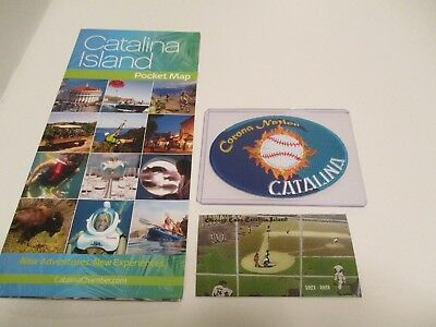 Catalina Island Chicago Cubs Tiles Magnet & Brochure +  Free Baseball Patch #922