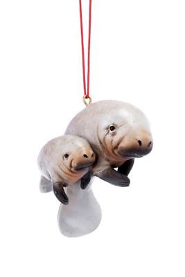 Manatee with baby Ornament