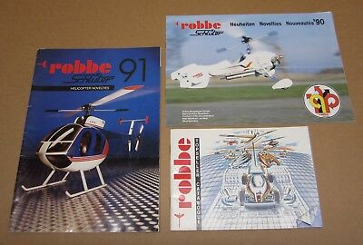 Lot of 3 Robbe Schluter RC Catalogs Helicopters 1990 1991