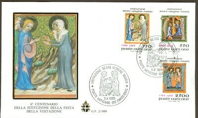 Vatican City Sc# 826-8, Feast of the Visitation on First Day Cover