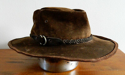 AUSTRALIAN Made Leather Outback Hat - CUTANA HAT