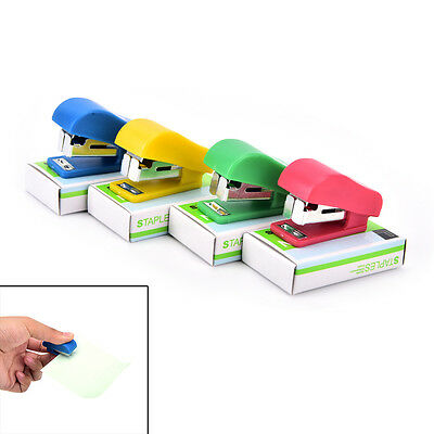 Office Student School Home Mini Cartoon Paper Document Stapler With Staples Set'
