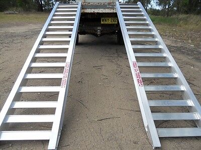 5 Tonne Machinery Ramps 3.3 Metres x 500mm track Aussie Made
