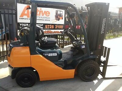 Toyota Late Model Forklift 8FG25 4.7m Lift 2.5 Ton Container Mast $19999+GST