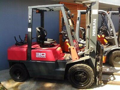 Nissan Forklift 3 Ton 3000mm Lift Height Refurbished $9999+GST Negotiable