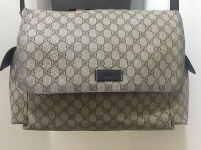 Gucci Brown GG Supreme Canvas Diaper Bag Messenger Bag $ 1190 SOLD OUT