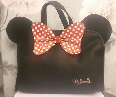 Brand New Primark Disney Minnie Mouse Cosmetic Make Up Wash Folding Large Bag