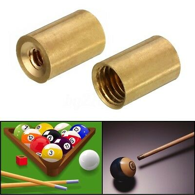 Pool Snooker Billiard Cue Tip Brass Ferrules Suit Screw in type tips 10mm 2018