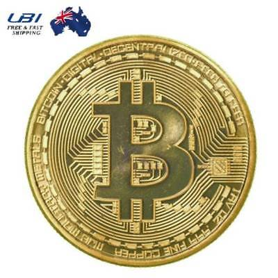 X10 Gold Plated Physical Bitcoin Coin Collectible Gift BTC Coin Art Collection