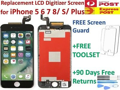 For iPhone 7 6s 6+ Plus LCD Touch Screen Display + Digitizer Replacement + Tools