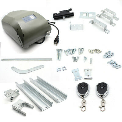 Electric Chain Drive Garage Door Opener System 800N with 2 Remotes AC MotorPower
