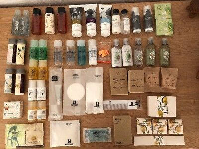 33 Reisegrößen Bath & Shower Gel Body Lotion Shampoo Conditioner +Proben