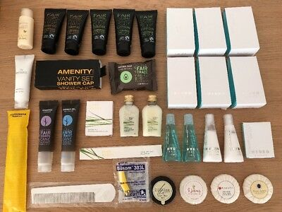 15 Reisegrößen Bath & Shower Gel Body Lotion Shampoo Conditioner +Proben