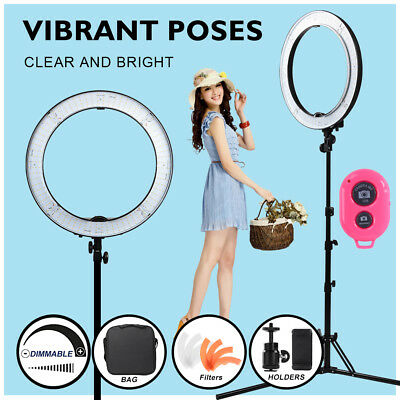"""19"""" 5500K Dimmable SMD LED Ring Light Photo Stuido Lighting Kit with Light Stand"""
