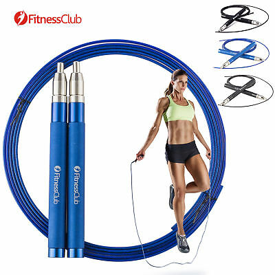 FitnessClub 10FT High Speed Jump Rope Adjustable Boxing Skipping Workout Rope 3M