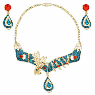 Disney Authentic Pocahontas Princess Jewelry Costume Set Necklace Earrings