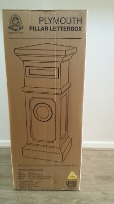 Plymouth Pillar Letterbox (BNIB) in Charcoal