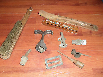Antique Metal and Wood Pieces