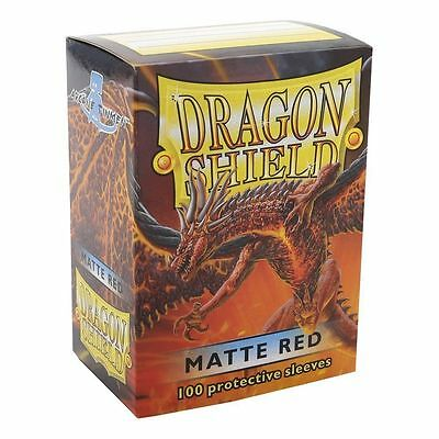 100 Bustine Buste Protettive DRAGON SHIELD MATTE STANDARD MTG FOW ROSSO/RED