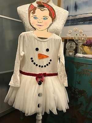 Next - Lovely Snow Man Sparkle Baby Christmas Dress. Size:18 To 24 Months.
