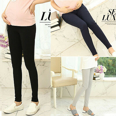Casual Maternity Pregnancy Joggers Elastic Skinny Over Bump Yoga Trousers Pants