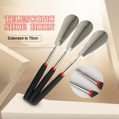 Telescopic Stainless Steel Shoe Horn Extra Long Extendable Handle Disability