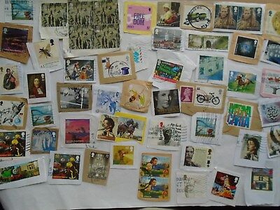 GB - 50 High Value  Commemorative Postage stamps as shown in pict. Kiloware (A)