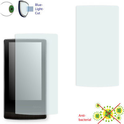 2x DISAGU ClearScreen screen protection film for Cowon J3 antibacterial