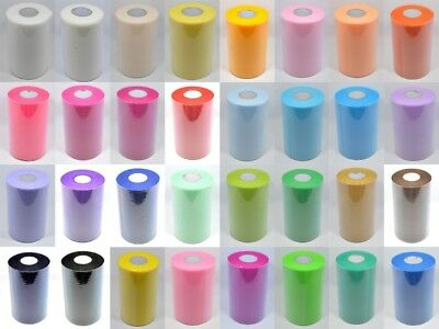 "100 YARDS OF 6"" WIDE  Packed on a roll  TULLE TUTU WEDDING FABRIC NETTING"