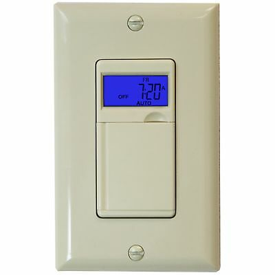 Enerlites HET01 7 Days Digital In-Wall  Programmable Timer Switch with Blue