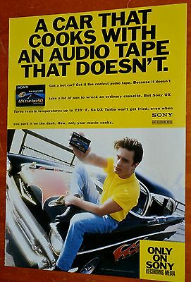 1957 Chevy Bel Air 2 Door Post Hot Rod For 1992 Sony Cassettes Ad - Retro 90S