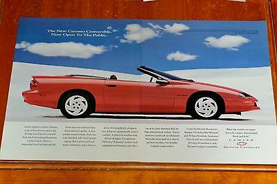 1994 Chevy Camaro Convertible Large American Ad - Retro Muscle 1990S