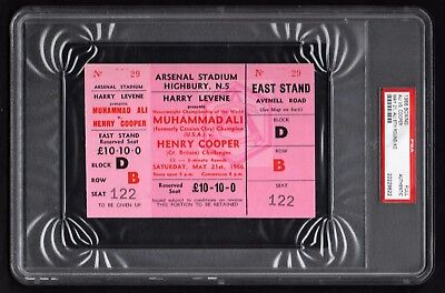 1966 MUHAMMAD ALI v HENRY COOPER full on-site boxing ticket PSA authentic Clay