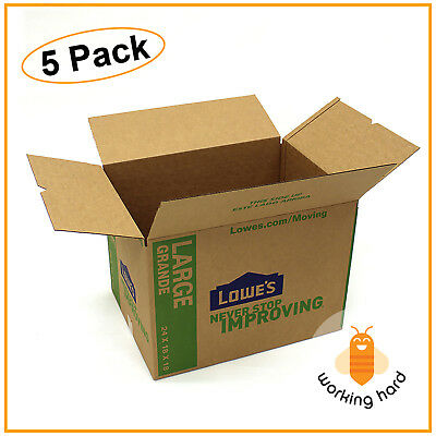 """LARGE CARDBOARD BOXES 24"""" x 18"""" Moving Shipping Packing Storage Mail PACK OF 5"""