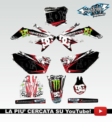 Kit Adesivi Grafiche Rock Camo Honda Crf 250 2008 2009 Decals Dekor