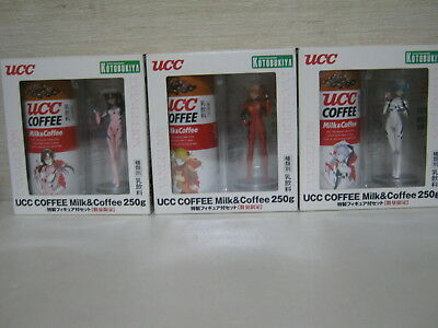 UCC coffee Evangelion project empty can with special figure set of 3